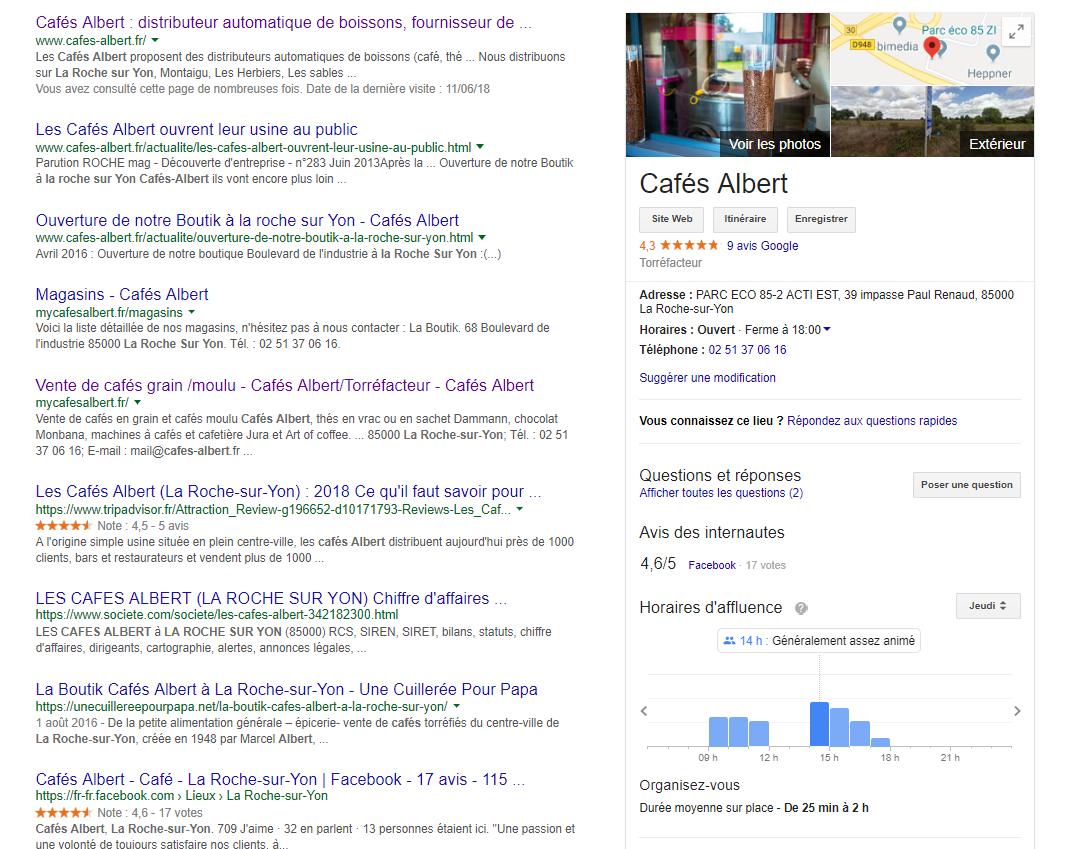 Google My Business Cafés Albert
