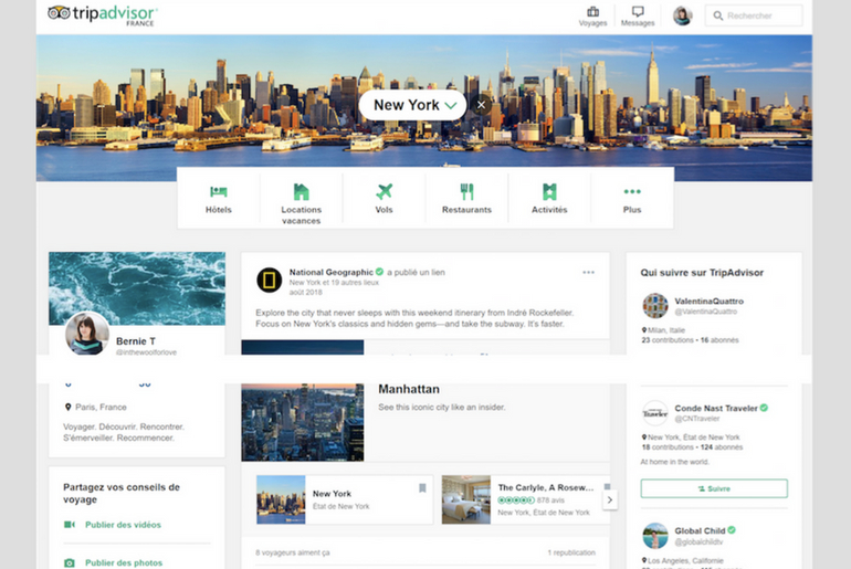 formation tripadvisor social media