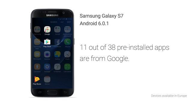 concurrence google samsung