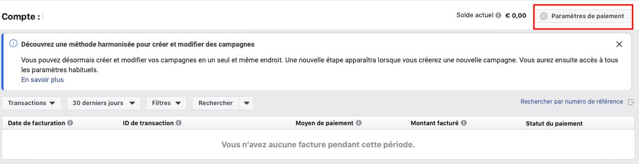 moyen de paiement facebook
